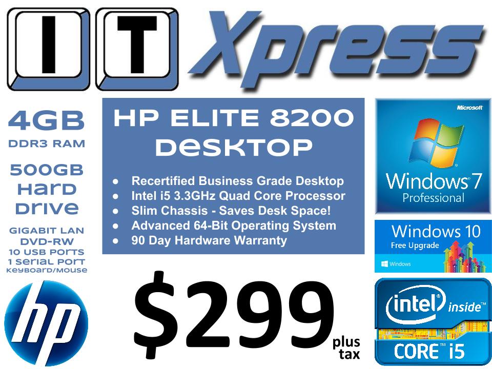 HP Elite 8200 Desktop Standard (i5-2500)