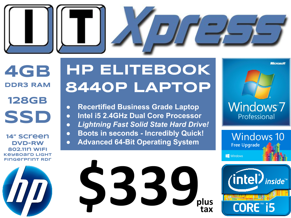 HP Elitebook 8440p i5-520m Laptop